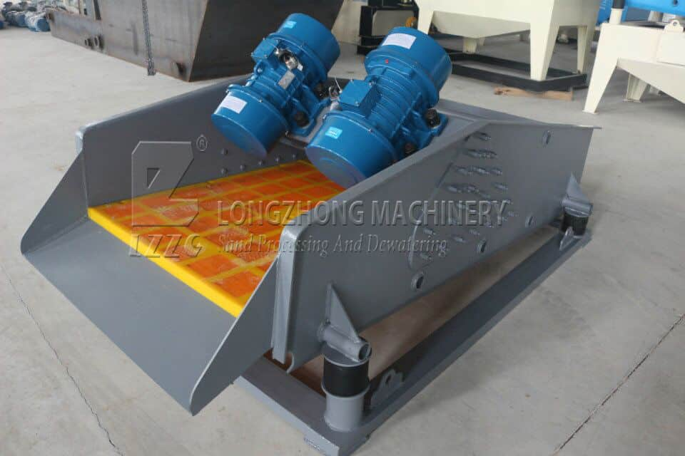 The sieve of vibrating screen is efficient and productive. The dewatering screen can be used to treat the different types of sludge.