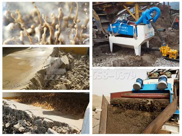Where is the sand recycling machine can be used