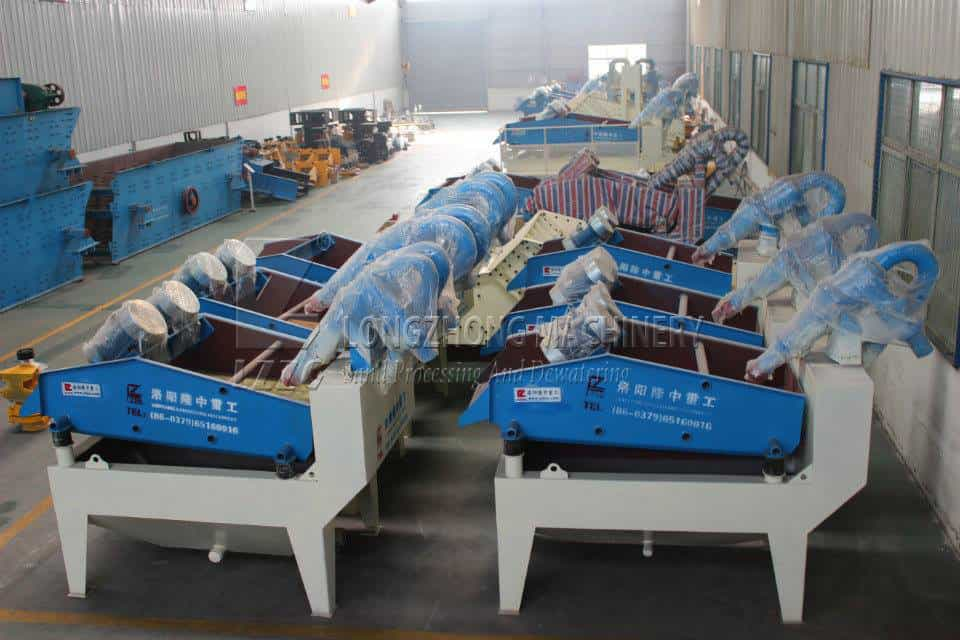 A new environmental sand recycling machine