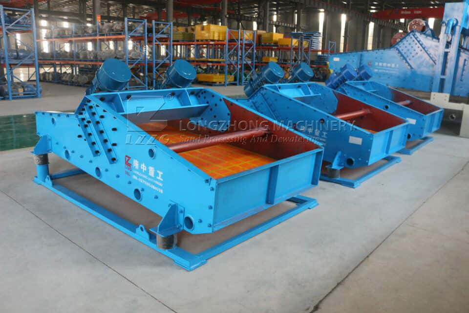 output of dewatering screen