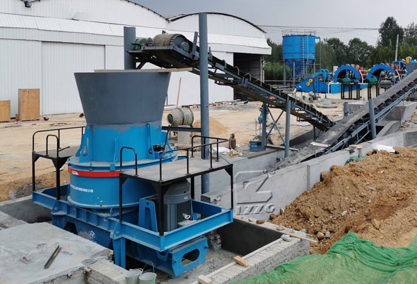 construction waste making sand machine